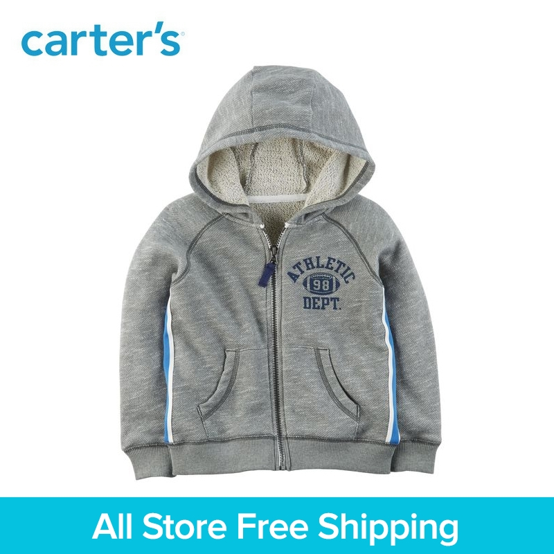 цена на Carter's 1-Piece baby children kids clothing Boy Spring Zip-Up French Terry Hoodie 263H750