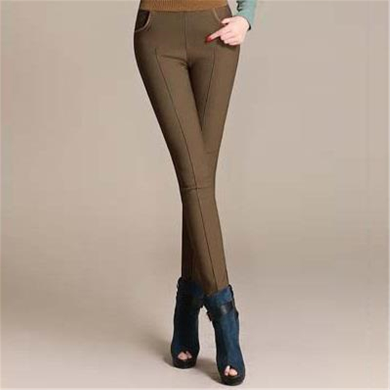 Female Plus Size Autumn Winter Plus Velvet Thicken Leggings Down Pants Warm Pencil Down Trousers women Abajo los pantalones