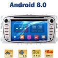 """7 """"Quad Core 2 ГБ RAM 4 Г LTE WIFI СИМ Android 6 Автомобиль Мультимедийный Dvd-плеер Радио Стерео Для Ford Mondeo Tourneo Connect Фокус 2"""