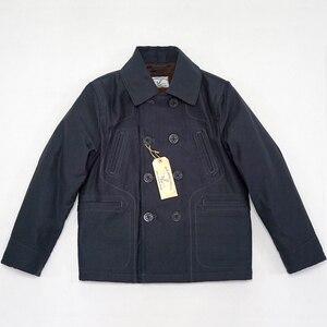 Image 2 - Bob dong 740 double breasted peacoat casaco de ervilha lã de inverno forrado jaqueta de plataforma dos homens