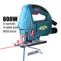 800W Jig Saw Electric Saw Woodworking Power Tools Multifunction Chainsaw Hand Saws Cutting Machine Wood With laser