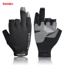 Boodun 1 par 3 dedos antideslizante canotaje guante reflexivo al aire libre  remo guantes velero resistente 1f3b18a0fd7