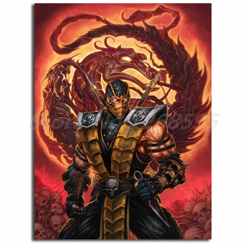 Scorpion Mortal Kombat X Game Hd Wallpapers Canvas Posters Prints