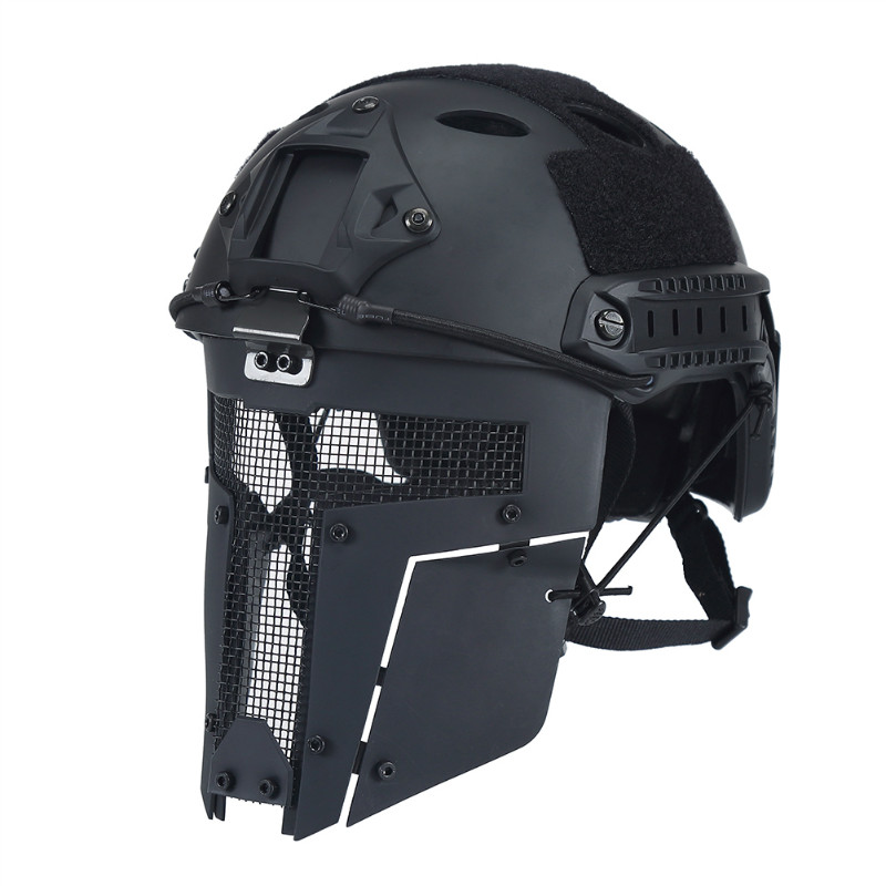 OneTigris Airsoft Tactical Mesh Mask Full Face Steel Mask FAST Helmet Mask paintball party mask airsoft wire mesh spectre 1 0 full face mask bd8863