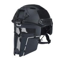 OneTigris Airsoft Taktik Mesh Maske Tam Yüz Çelik Maske HıZLı Kask Maske
