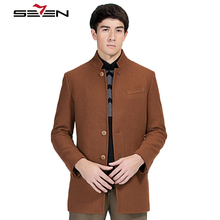 Seven7 Fashion Jacket Men Wool Coat Peacoats Men Long Wool Blend Winter Male Overcoat Trench Design Brand Clothing 111K20080(China)