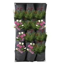 15 карманов вертикальный мешок для выращивания настенный посадочный горшок садовый настенный органайзер зеленый мешок для выращивания овощей для гостиной садовый мешок для растений