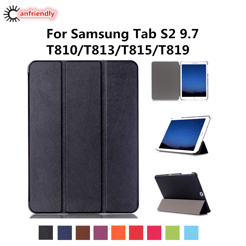 T810 T813 T815 T819 Coque Lucury PU Leather Flip Tablet Cover Case For Samsung Galaxy Tab S2 9.7 SM-T810 SM-T813 SM-T815 SM-T819 luxury pu leather cover case for samsung galaxy tab s2 9 7 t810 t815 sm t810 flip stand for samsung galaxy s2 t815 cases kf469a