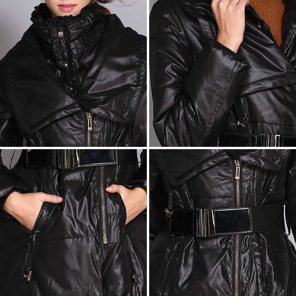 COUTUDI Women Down Jackets Winter Plus Size Long Duck Down jacket Warm Slim High Street Style Quality Down Coat Female Parka