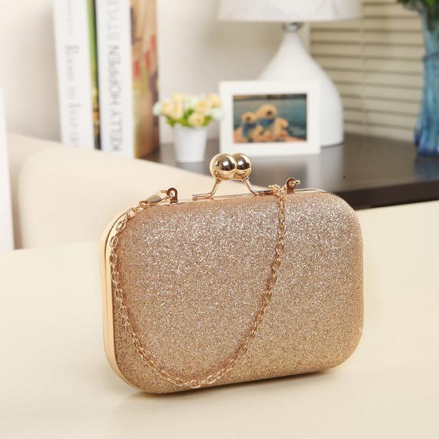 Woman Evening bag Women Gold Clutch bags Crystal Day Clutch Wallet Wedding Purse Party Banquet