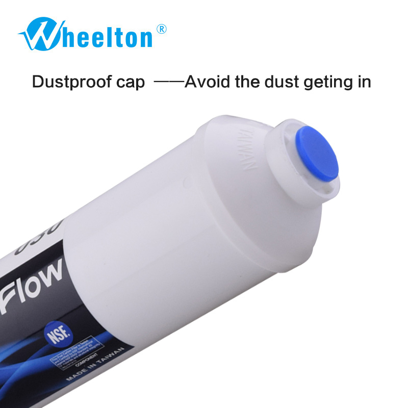 Wheelton Offer Quick Connect T33 10 Inch  Post Carbon filter for water filter purifier system RO-REVERSE OSMOSIS