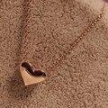 Venta caliente Headwear de Las Mujeres en Forma de Corazón de Oro Cadena Declaración Bib gargantilla Colgante de Moda Collar de cadena de oro colar