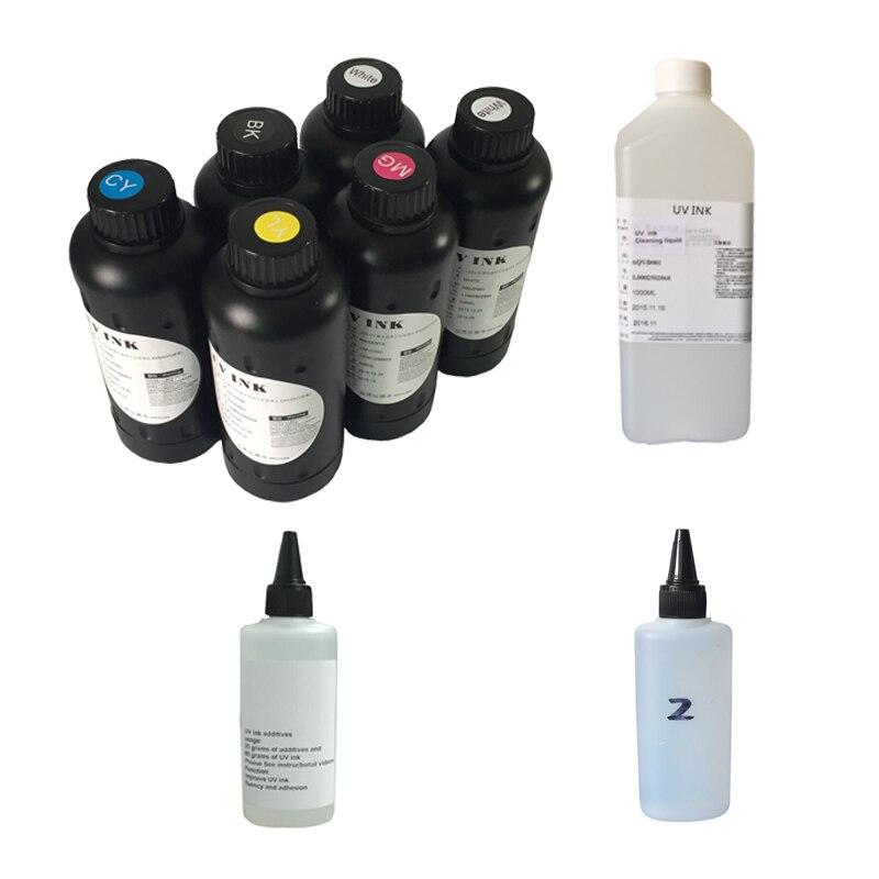 1/Set Led Uv Ink / Universal UV LED Ink For Epson UV flatbed Printer/ 3D UV Printer For Epson 1390 1400 1410 L800 R290 R330