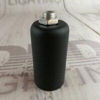2 adet/10 adet E14/E12 CE/UL plastik soket ile demir kapak lamba tutucu gümüş/altın/siyah bitmiş demir plastik ışık prizler