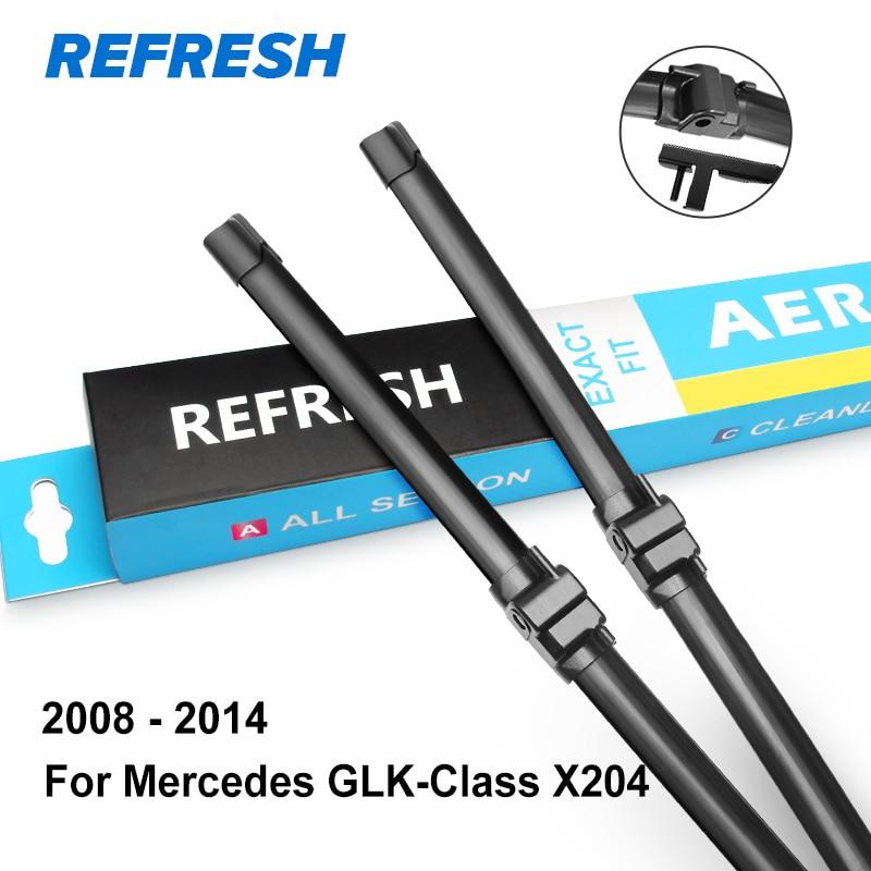 REFRESH Щетки стеклоочистителя для Mercedes Benz GLK Класс X204 Подходящие боковые штифты GLK 200 220 250 280 300 320 350 CDI 4Matic - Цвет: 2008 - 2014 ( X204 )