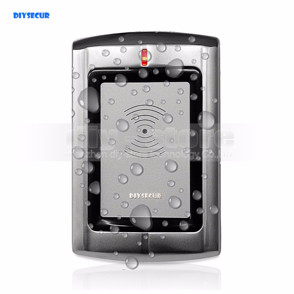 DIYSECUR Quality Waterproof Metal Wiegand 26 125KHz EM RFID ID Card Reader For Access Control System Kit R3-EM 5pcs lot free shipping outdoor 125khz em id weigand 26 proximity access control rfid card reader with two led lights