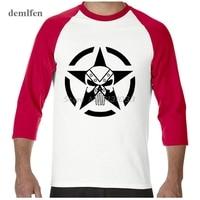 New Casual Punisher Skull Marvel T Shirts For Man Streetwear Hip Hop Comics Supper Hero Men