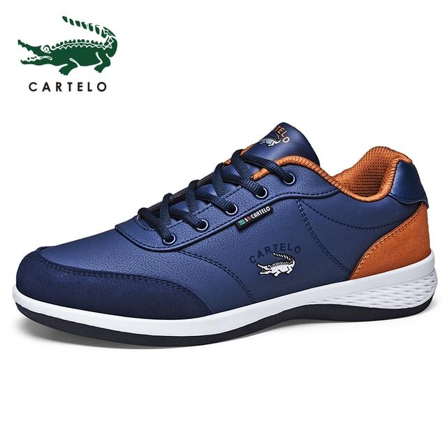 CARTELO أحذية رجالي رياضية الترفيه أحذية رجالي موضة الكورية الاتجاه شبكة تنفس خفيفة الوزن احذية الجري مريحة الرجال