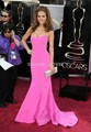 2015 New Arrival Long Evening Dresses Cannes Red Carpet Dress Sexy Backless Fuchsia Satin Floor Length Celebrity Dresses AF195