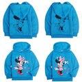 2016 de La Moda de Mickey Mouse Del Bebé niños Niñas Niño Sudadera Ropa de Abrigo Chaqueta Con Capucha Tops