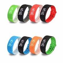 1 pc enfants de gens Smart watch pour personnes âgées Sport Bracelet Silicone Anneau Avec LED Thermomètre alarme Rectangle H4