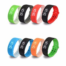 1pc children old people Smart watch for elderly Sports Bracelet Silicone Ring With LED Thermometer alarm Rectangle H4