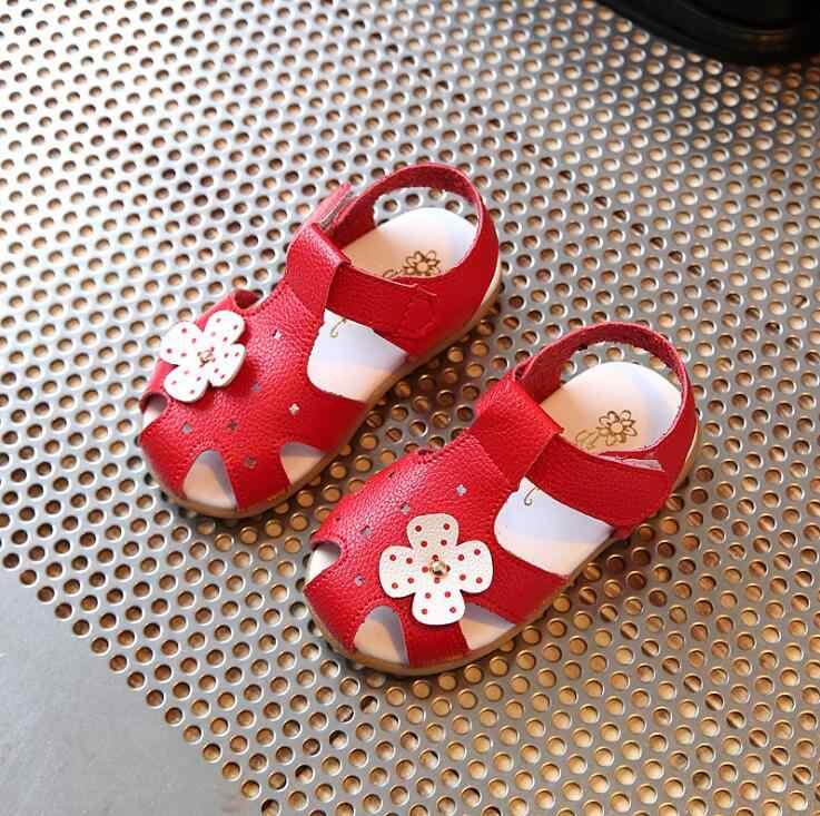 Повседневная детская обувь 2019 летняя новая Цветочная принцесса обувь для девочек Нескользящие мягкие детские сандалии детские пляжные сандалии для девочки Размер 21-30