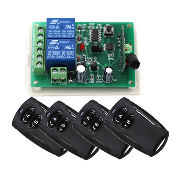 Home Automation DC 12V 10A 2 Channel 2CH Remote Control Switch Home Appliance Controlling Center SKU: 5089 dc 12v led display digital delay timer control switch module plc automation new
