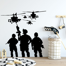 New Special Troops Wall Stickers Decorative Decals Home Decor For Kids Room Wallpaper School Office Decoration Vinyl Mural