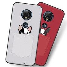 Детская одежда с рисунками и красной собака чехол для Motorola Moto G7 плюс, ТПУ задняя крышка для мобильного телефона оболочки с любимыми персонажами из мультфильмов Цвет картина Case.10 Цвета.