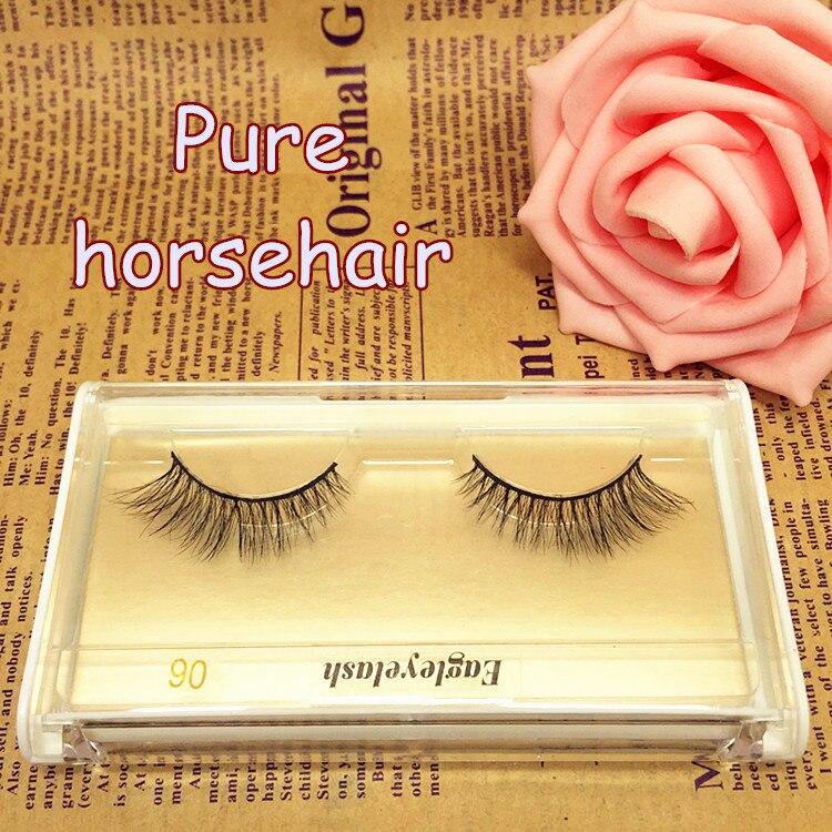 New package 1 pair Horse Hair False Eyelash Extension H06 Makeup Cosmetics Natural Long Crisscross Fake Eye Lash Free shipping