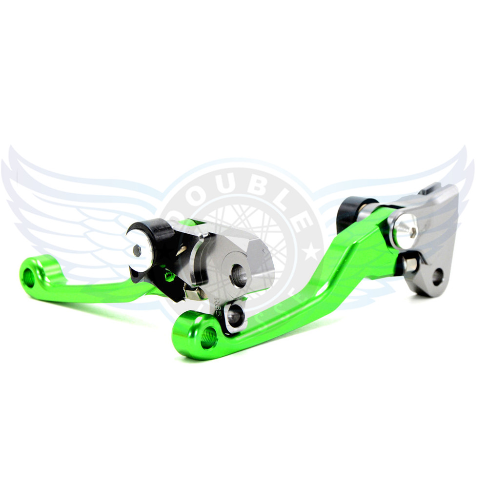 ФОТО high quality motorcycle accessories folding Pivot Levers Brake Clutch  cnc green For Suzuki RMZ 250 2004