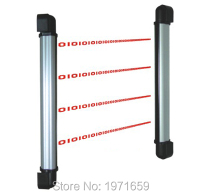 10 beams with 60/80M detector distance infrared photobeam curtain/barrier sensor with 4 Channel of frequency adjustment