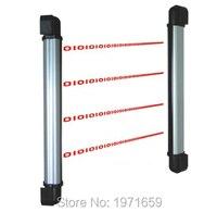 10 feixes com detector de 60/80m  cortina infravermelha de distância e sensor de barreira com 4 canais de frequência ajuste de ajustamento