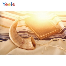 Yeele Happy Rosh Hashanah Shofar Photography Backdrop Book Cloth Sunshine Custom Vinyl Background For Photo Studio