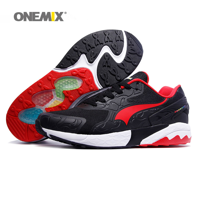 все цены на ONEMIX Men Running Shoes for Women Retro Classic Athletic Trainers Sports Shoe Jogging Mesh Breathable Outdoor Walking Sneakers