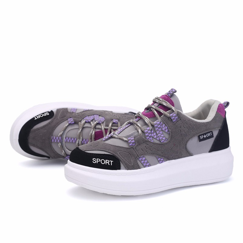 KUYUPP 2016 Autumn Fashion Women Flat Platform Shoes Sport Casual Shoes For Mens Trainers Lace Up Low Top Shoes Breathable YD111 (36)