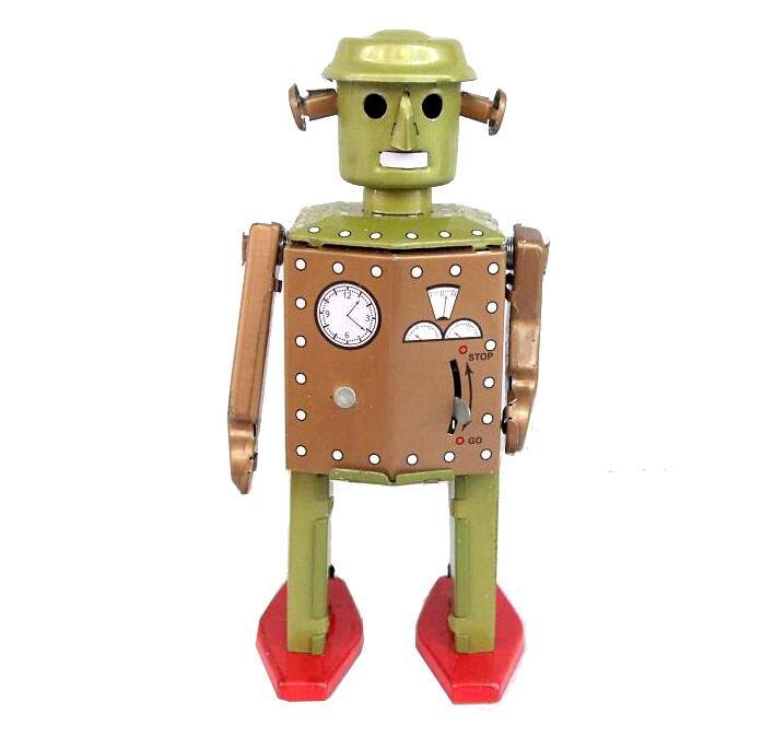coleccin de la vendimia metal herida primavera robot mainland