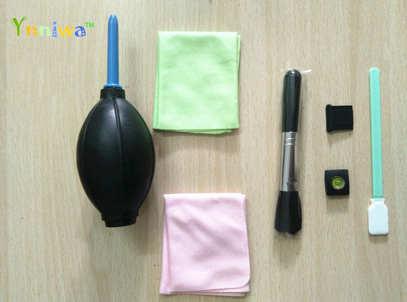 7 in1 Camera Lens Clearing suit kit set Lens Clean-cloth Air Blower +cleaning bursh +Clean cloth+hot shoe+CCD SWAB must have cleaning kit for digital camera air blower cloth brush spray
