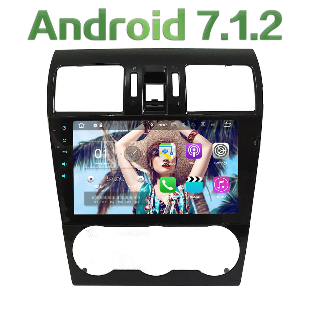 2GB RAM 9'' Android 7.1.2 Quad Core 4G Wifi SWC DAB+ RDS Car Multimedia Player Radio Stereo For Subaru Forester WRX XV 2014-2016 for subaru xv 09 13 forester 10 wrx sti balancing rod ball joint