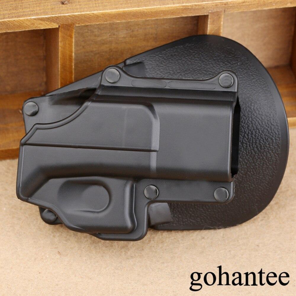 Caza mano derecha pistola táctica pistolera cinturón de protección bucle plataforma de pala para Glock 17 19 22 23 31 32 34 35 gohantee Tira de LED para iluminación trasera para LG 32