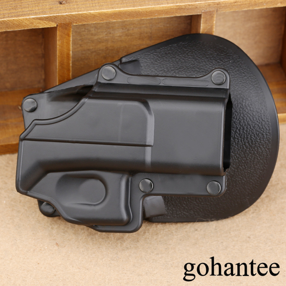Hunting Right Hand Tactical Gun Pistol Holster Protection Bälte Loop Paddle Platform för Glock 17 19 22 23 31 32 34 35 gohantee