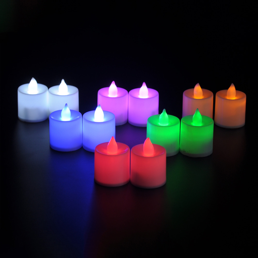 6 pcs/Lot DecorativeLED Flicker Candle Flameless Candle Light Lamp Wedding Party Christmas Festival Holiday Decoration