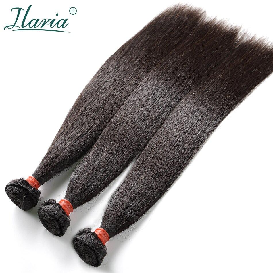 LUXURY ILARIA HAIR Brazilian Virgin Hair Bundles Hair Weft Straight 100% Unprocessed Mink Human Hair Weave Bundles Natural Color