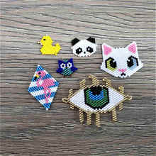 Shinus 10Pcs/lot Miyuki Accessories Fit Bracelet Necklace Panda Fox Owl Pendant Animal Child Gift 2019 Perles Handcrafted