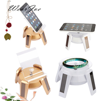 4 Color Solar Powered Phone Watch 360 Degree Rotating Show Case Organzier Jewellery Beads Display Holder