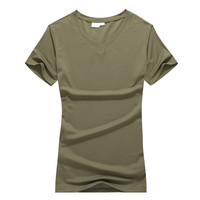 Hot Sale Ladies Summer Tops Casual Short Sleeve V Neck Quick Dry T Shirt Breathable Lightweight