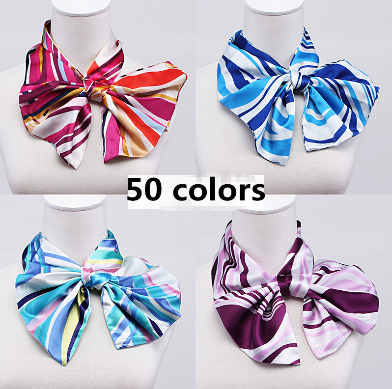 womens fashion Variety magic silk scarf work uniforms wear scarf ladys hotel bank office work silk scarf satin scarf