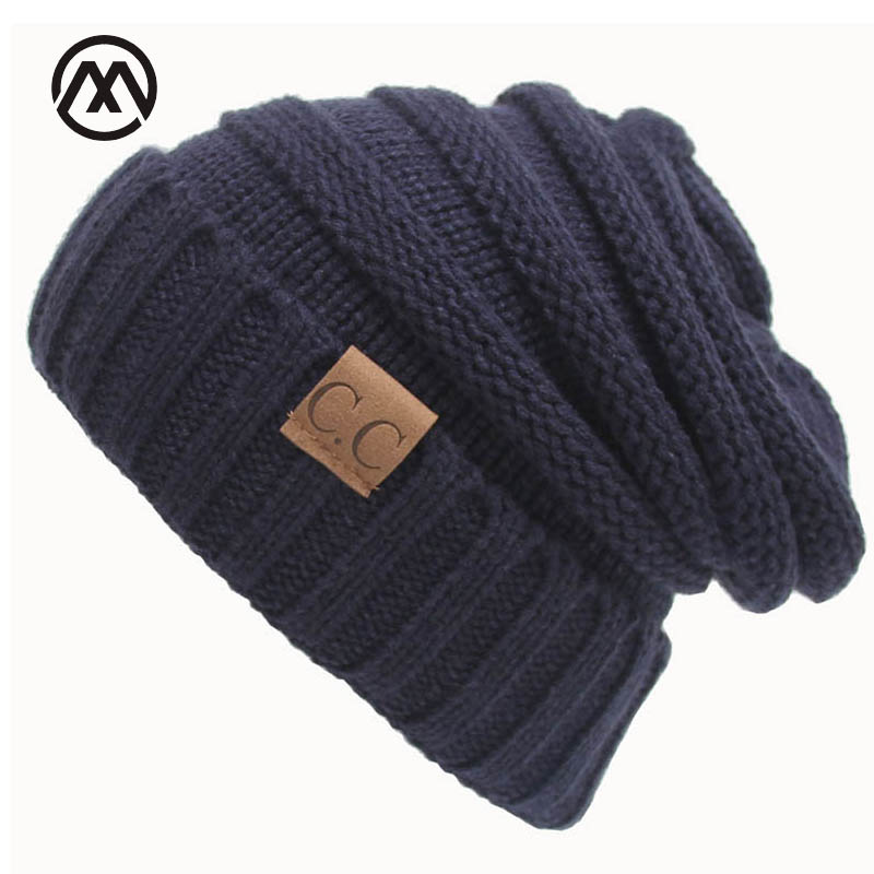 2017 Hot Sale Skullies & Beanies Winter Cap For Women Knit Hats Outdoor Warm Wool Crochet Cap Female Girl Beanies Winter Hat skullies