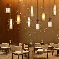 Скандинавский светодиодный подвесные светильники hanglamp металл + ткань для высокий потолок современный подвесной светильник led Black & Gold для сп